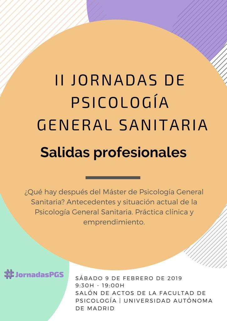 II Jornadas de Psicología General Sanitaria: Salidas profesionales (09/02/19)